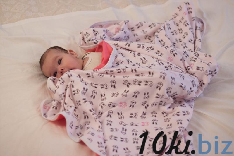 Пледик двухсторонний ушастый заяц/розовый Детские пледы, одеяла в России