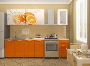 Фото кухни Апельсин 2м