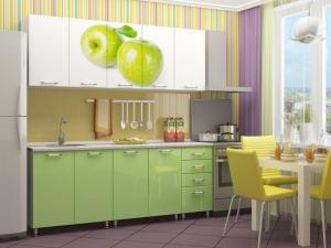 Фото кухни Яблоко 2м