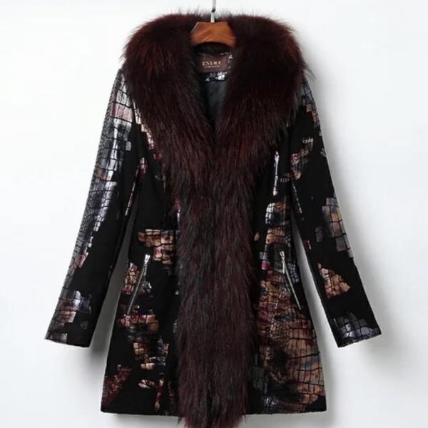 Куртка .кожа , мех лиса