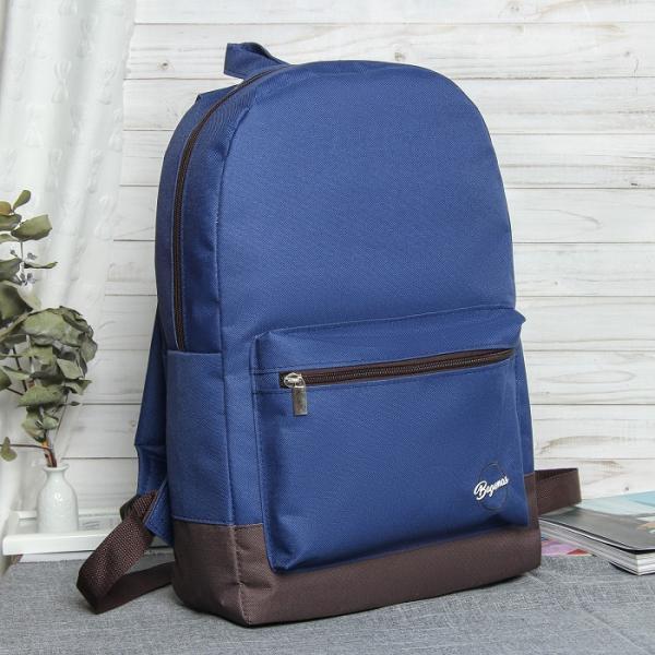 Рюкзак мол Bagamas, 30*11*44см, 1 отд, нар карман, синий/коричневый