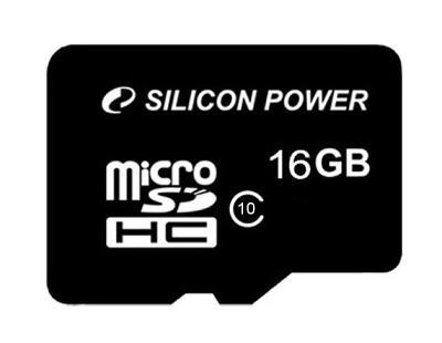 Карта памяти Silicon Power MicroSD 16Gb (Class 10)