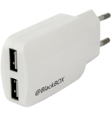 Универсальное сетевое ЗУ BlackBox (2UTR2060/26) 2.1A (белый)