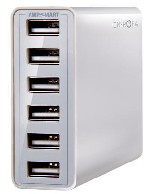 Универсальное сетевое ЗУ Energea 10A 6 USB ports (white)