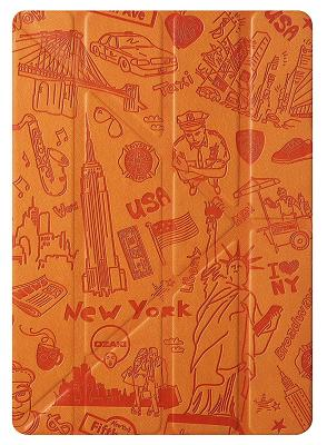 Чехол-подставка Ozaki O!coat Travel New York для iPad Air 2 (оранж)