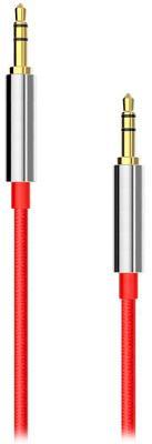 Фото Кабель, BlackBox Кабель BlackBox Аудио (AUX008-1) 3.5мм-3.5мм 1.5m Плетеный red