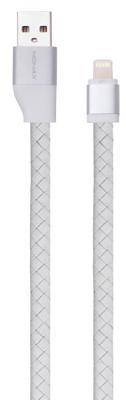 Кабель Momax Elite Link 1m Lightning (DL2W) кожаный white