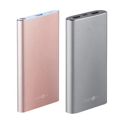 Портативная батарея Energea 5000mAh Rose Gold (USB 2.1A Alu.) + Energea 10000mAh Gunmetal (Duo 3.1A Alu.)