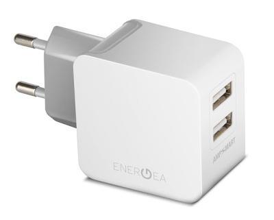 Универсальное сетевое ЗУ Energea USB 2x 3.4A (EU) white