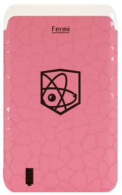 Портативная батарея Enrico Fermi 6000mAh pink (B06)