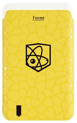 Портативная батарея Enrico Fermi 6000mAh yellow (B06)
