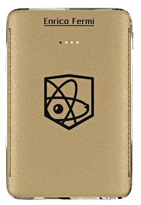 Портативная батарея Enrico Fermi 6100mAh gold (S10)