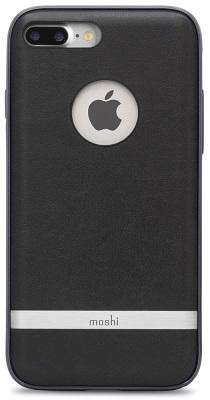Чехол-накладка Moshi Napa Leatherette Charcoal Black для iPhone 7 Plus/8 Plus