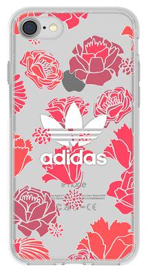 Чехол-накладка Adidas Originals Clear Case Bohemian Floral Red для iPhone 7/8