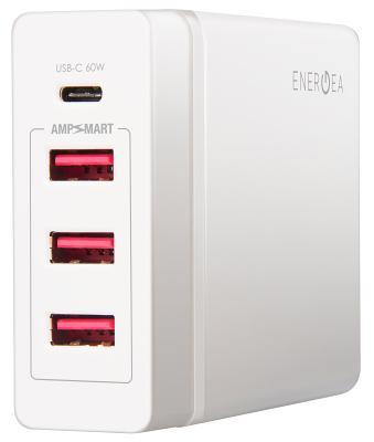 Универсальное сетевое ЗУ Energea USB 3x+1x(PD) белый
