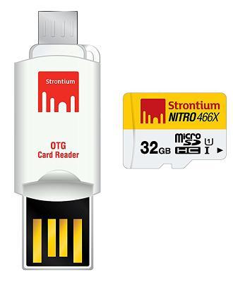 Карта памяти Strontium MicroSD 32Gb (Class10)+OTG Card Reader