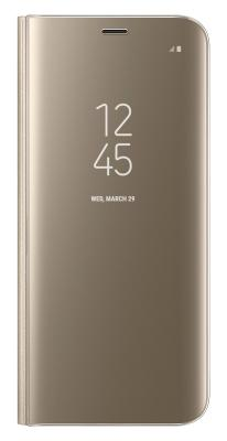 Чехол-книжка Samsung Clear View Standing Cover для Galaxy S8 (золотой)