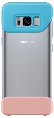 Чехол Samsung Piece Cover для Galaxy S8 (Blue & Peach)