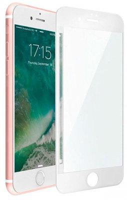 Защитное стекло матовое iLera iPhone 7 Plus 3D Full protection Eclat white