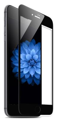 Фирменное гибкое стекло Gio Full Cover для iPhone 7 (черный)