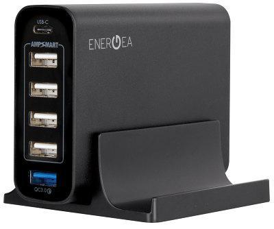 Универсальное сетевое ЗУ Energea USB 6х (QC3.0 USB-C) черный