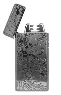 Электрическая зажигалка SE (STY-038L) черный дракон