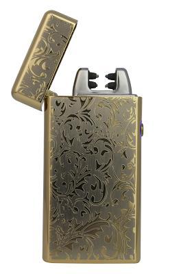Электрическая зажигалка SE (STY-038L) золотой орнамент