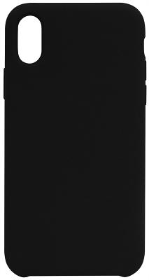 Чехол-накладка iPhone X Liquid Silicon Black