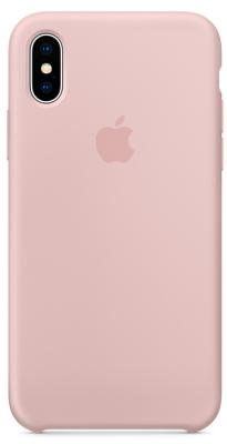 Чехол-накладка Apple Silicone Case (Pink Sand) для iPhone X