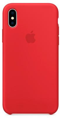 Чехол-накладка Apple Silicone Case (Product Red) для iPhone X