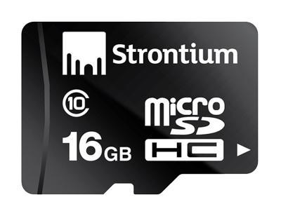 Карта памяти Strontium MicroSD 16Gb Class10 + SD adapter (SR16GTFC10A)