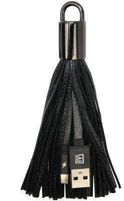 Кабель-брелок USB - microUSB Remax (Черный)