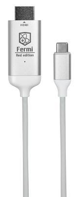 Кабель-переходник Enrico Fermi USB-C to HDMI (White)