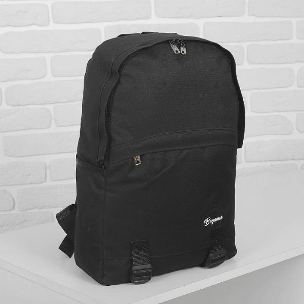 Рюкзак молодёжный на молнии Bagamas, 1 отдел, 3 наружных кармана, цвет чёрный