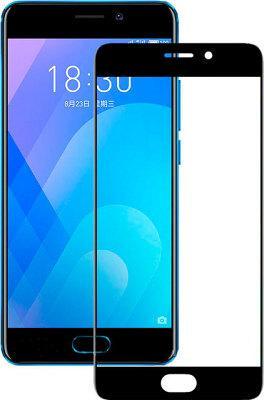 Фирменное гибкое стекло Meizu M6 Note black
