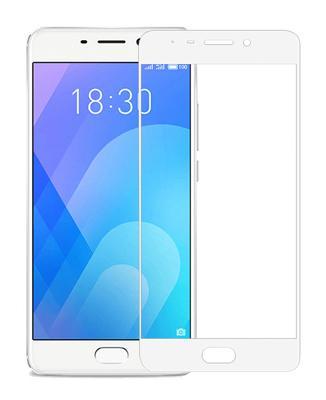 Гибкое стекло Gio для Meizu M6 (Белый) Full Cover