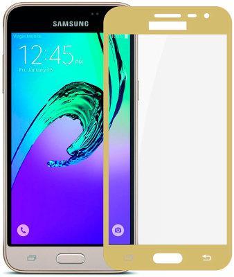 Защитное стекло Gio Samsung Galaxy J3 2016 (J320) 2.5D full cover Gold