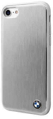 Чехол-накладка BMW Soft Case Brushed Aluminium iPhone 8/7 Silver