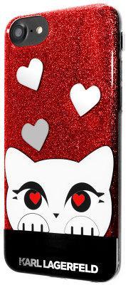 Чехол-накладка Lagerfeld Valentine TPU Case Choupette Glitter iPhone 8/7 Red