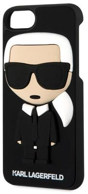 Чехол-накладка Lagerfeld Silicone Karl Body (Black) для iPhone 8/7