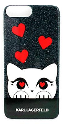 Чехол-накладка Lagerfeld Valentine TPU Case Choupette iPhone 8 Plus/7 Plus Glitter Black