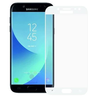 Защитное стекло Samsung Galaxy J7 2017 Full Screen White