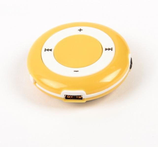 Mp3 плеер UFO, портативный, желтый