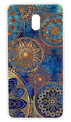 Чехол-накладка Wise (Синий с золотым узором) для Nokia 3