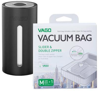 Смарт система хранения вакуумный насос + пакет Medium Vago (Black) TVD1 Black