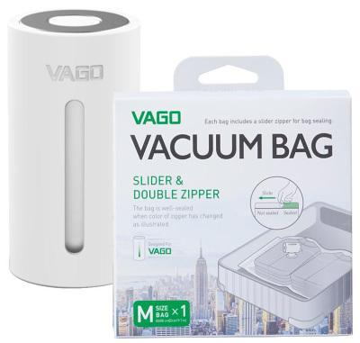 Смарт система хранения вакуумный насос + пакет Medium Vago (White) TVD1 White