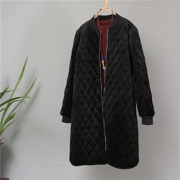 Пальто бархатное, стёганое