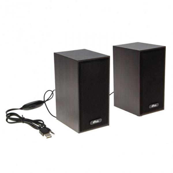 Акустическая система 2.0 RITMIX SP-2011W Dark Brown, 2х3Вт, USB, черные/коричневые
