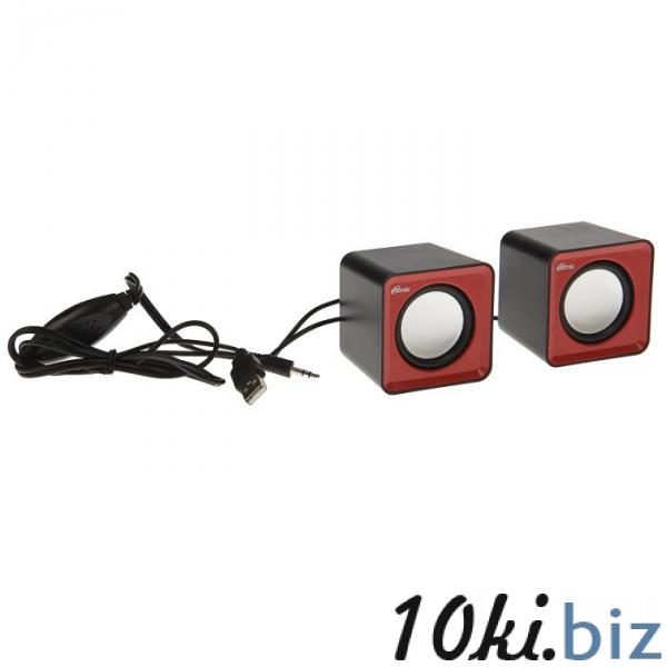 Акустическая система 2.0 RITMIX SP-2020 Black-Red, 2х2.5Вт, USB, черные/красные