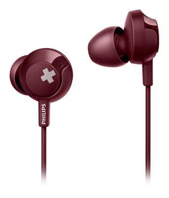 Наушники Philips SHE4305RD/00 с микрофоном (красные)